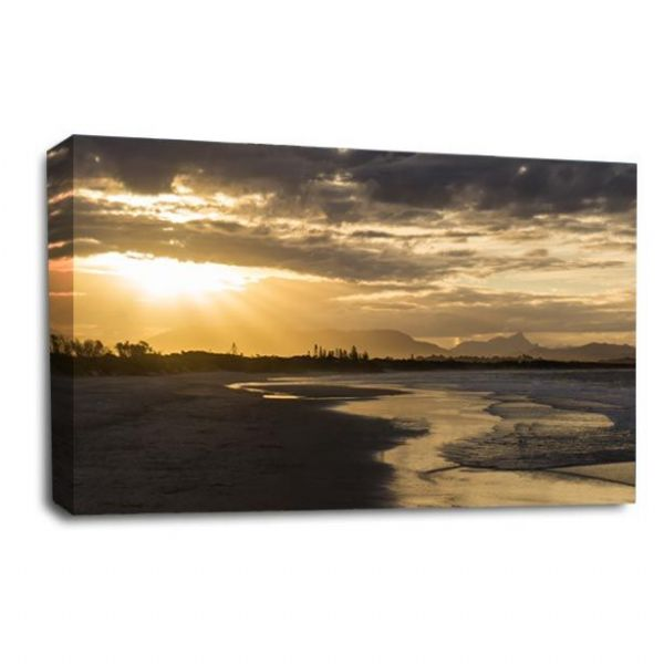 Sunset Landscape Wall Art Picture Golden Rays Seascape Print